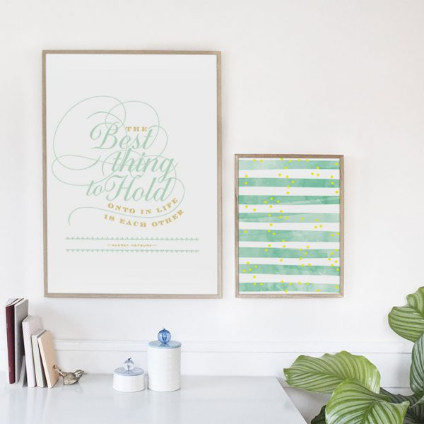 hold on to each other poster